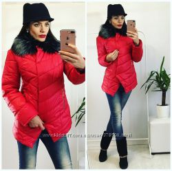 Стильная курточка , красная , чёрная