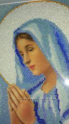 Картины вышитые бисером. Дева Мария