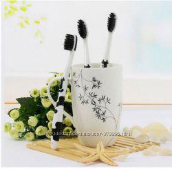 Бамбуковые зубные щетки с угольным напылением в оригинальном дизайне