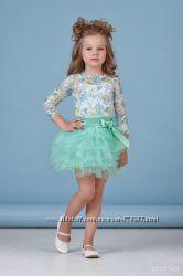 Нарядные платья-комплекты для девочек 116-128см в наличии