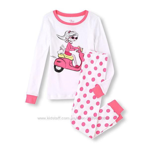 Пижамы хлопковые Childrens Place США Top And Pants возраст 4 года в наличии