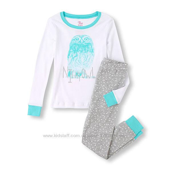 Пижамы хлопковые Childrens Place США Owl возраст 4 года в наличии