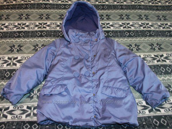 Теплая зимняя куртка на рост 110