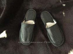 Тапочки мужские кожаные