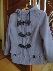 Демисезонное пальто на стройную девушку, серое, фирма b. p. c. , р. 44