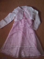 Нежное платье с болеро 134 р7-9 лет