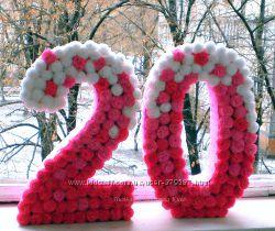 Объемные декоративные цифры на день рождения