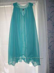 Пляжное шифоновое платье туника разлетайка