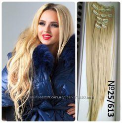 Волосы трессы ТЕРМо на заколках набор из 12 прядей 60см 25613