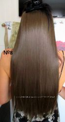 Волосы тресс на заколках ТЕРМо затылочная прядь 60см 8