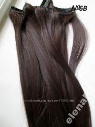 Волосы трессы на заколках 7 прядей