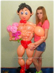 Девичник мальчишник воздушные шарики шары Киев