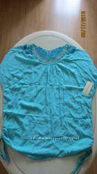 Воздушная бирюзовая блуза кофточка