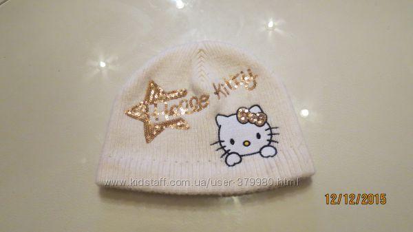 Теплая шапочка Hello Kitty