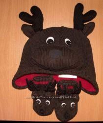 Шапочка з рукавичками GYMBOREE 0-12 місяців