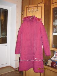 Зимнее теплое женское пальто на синтепоне