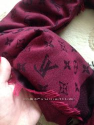 Шикарный платок LV Louis Vuitton марсала