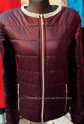 Женская куртка на синтепоне Бусинки