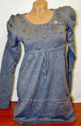 Платье -туника  шерстяное , итальянский трикотаж.