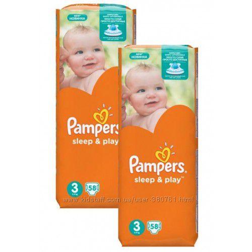 Pampers Подгузники Sleep&Play 4 Maxi 9-14 кг 50 шт Jumbo Pack