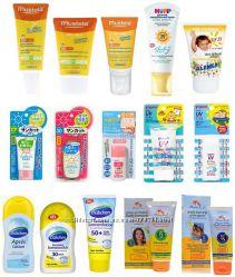 Детский крем, спрей и лосьон солнцезащитные с высоким  защитным фактором