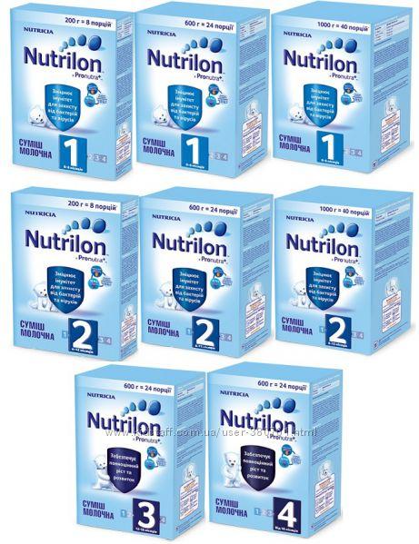 Новинки Смеси Nutrilon Pro Nutra 1, 2, 3, 4.