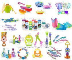 Nuby нуби товары для детей пустышка, игрушка, тарелка, ложка, соска