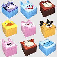 Детский пуфик-корзина для игрушек