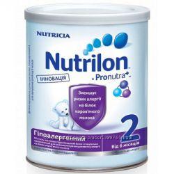 Молочная смесь Nutrilon  Молочная смесь Nutrilon  Гипоаллергенный 2 Pronut
