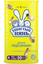 Ушастый Нянь Подгузники 4 макси 7-18кг 50шт