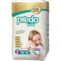 Подгузники Predo Baby 3 Midi 4-9 кг 11 шт