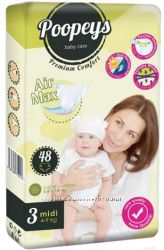 Подгузники Poopeys Premium Comfort - здоровье, безопасность, комфорт