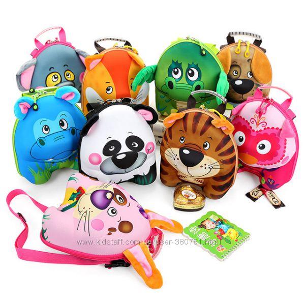 Маленький рюкзачок 3D для вашего ребенка с объемной мордочкой животного.