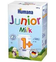 Детское растворимое молочко Humana Джуниор Хумана 500гр, от 1 года , Хумана