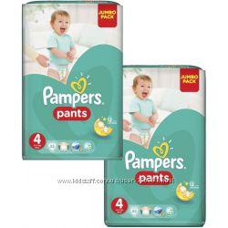 Трусики Pampers Pants 4 Maxi 9-14 кг 104 шт 2 пачки по 52 шт памперсы