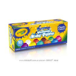 Crayola washable kids paint 10 баночек гуаши
