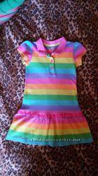 Стильное платье - поло для малышки 4Т на 2-4года