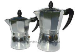 Гейзерная кофеварка алюминий на 6 чашек