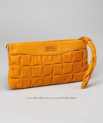 Клатч желтый Ellington, кожа, 13 на 26 см