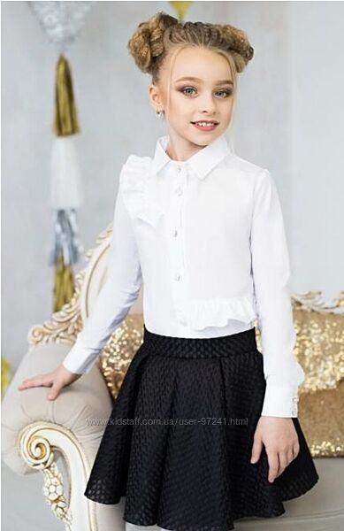 Белоснежная блуза р.128