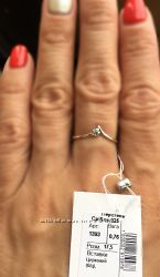 Нежное кольцо. Серебро.