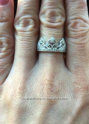 Серебряное кольцо Корона. Р. 16. 5,  18 и 18. 5