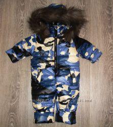Зимний комбинезон на мальчика, натуральный мех, 86-110 размеры, 750 ... 356d0168c4a