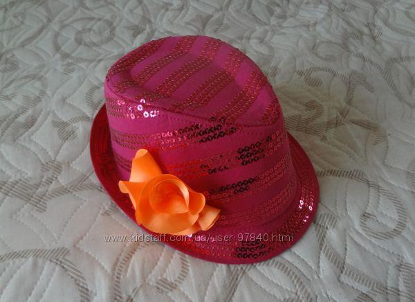 Шляпка с паетками Children&acutes Place для девочки 7-8 лет