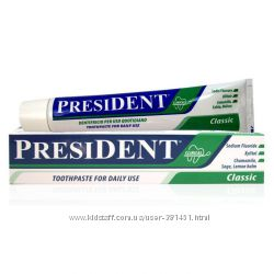 Зубная паста PresiDENT Classic Италия - ежедневный уход и защита