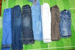 джинсы, бриджи, голубые, синие, белые, серые 1-4 года