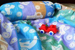 Распродажа Льняное детское покрывало с подушкой