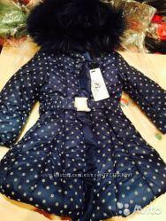 Теплое зимнее  пуховое пальто Borelli, Борелли, Италия, р. 4 года и 5 лет