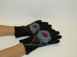 Перчатки валяные