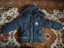 Теплая куртка на зиму для мальчика 110 р.